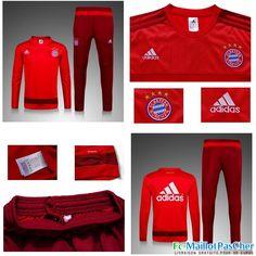 Nouveau Survetement Bayern Munich Rouge 15 2016 2017 Prix Pas Cher -02