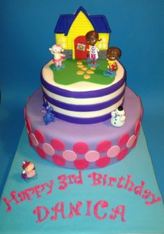 Doc Mcstuffins Birthday Cake Docs Clinic Is A Giant Sugar Cookie The Figurines Were Provided By The Client Doc McStuffins Birthday Cake.Doc...