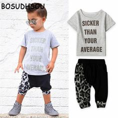 >> Click to Buy << Bosudhsou HH-46 Baby Set Clothes Letter Printed Casual Boys Set T Shirt Pant Newborn Baby Clothes Fashion Toddler Clothing #Affiliate