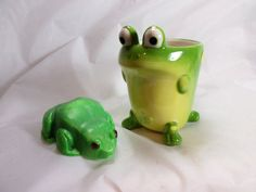 Frog Soap with Frog Mug Sodium Hydroxide, Glycerin Soap, Palm Oil, Bar Soap, Soaps, Fragrance, Hand Painted, Mugs, Handmade