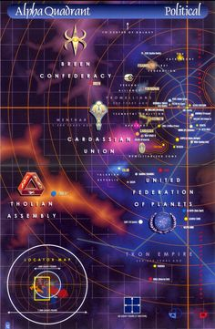 Star Trek Map of the Alpha Quadrant. Not sure if accurate but cool nonetheless