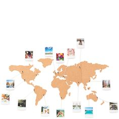 Corkboard map room room decor and room ideas cork board world travel map gumiabroncs Choice Image