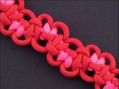 How to Make the Tumbling Hearts Bar (Paracord) Bracelet by TIAT (+playlist)