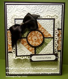 Stamping with Julie Gearinger: Another Quilt Card- Fall Colors and Five Punches