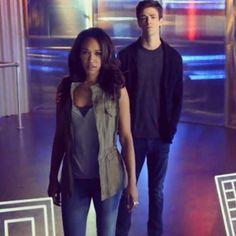 Iris West and Barry Allen