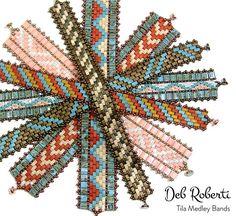 Tila Medley Bands beaded pattern tutorial by Deb Roberti
