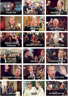 #himym high fives, the high six was the best