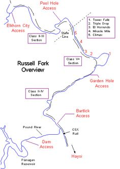 Russell Fork area maps