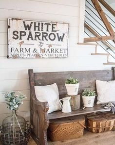 Rustic Family Name Sign - Personalized Farmhouse Wall Art - Modern Farmhouse Living Room - Personalized Name Sign - Established Last Name Sign Farmhouse Wall Art, Farmhouse Style Kitchen, Country Farmhouse Decor, Modern Farmhouse Kitchens, Rustic Decor, Vintage Farmhouse, Farmhouse Baskets, Vintage Decor, Country Chic