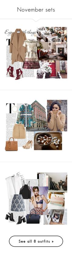 """""""November sets"""" by lol5295 ❤ liked on Polyvore featuring Wild Diva, Harris Wharf London, Valentino, Yves Saint Laurent, Jimmy Choo, Oscar de la Renta, Topshop, Chicwish, Pierre Hardy and H&M"""