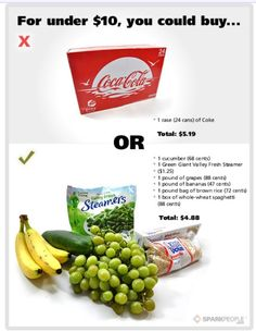 Eating healthy vs Junk.  What $10looks like compared to $10 of garbage. It can be done. #charlottepediatricclinic