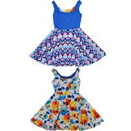 Teen Original Reversible Twirly Dress   Space Oddity