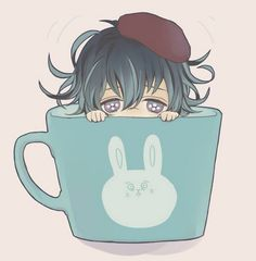 Chibi Azusa in a tea cup