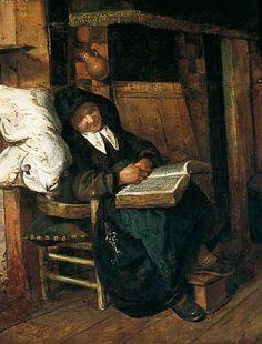 An Old Woman Asleep  Esaias Boursse (1631–1672)  York Museums Trust