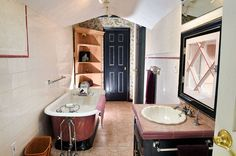 Bathroom with clawfoot tub in renovated former logging camp in Constantia | syracuse.com