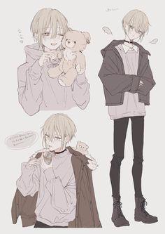 (19) 雪杜 (@yukito_shii) / Twitter Cool Anime Guys, Cute Anime Boy, Griffonnages Kawaii, Manga Art, Anime Art, Poses Manga, Anime Poses Reference, Art Reference, Anime Sketch