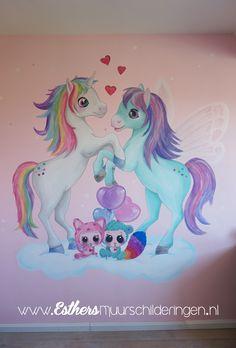 Unicorn Images, Unicorn Pictures, Unicorn Bedroom, Unicorn Wall, Cute Animal Drawings, Cute Drawings, Reading Nook Kids, Unicorn Painting, Chalk Wall