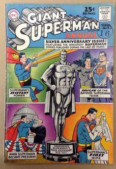 Superman Annual 7 DC Comics 1963 Silver Age Batman Appearance Fine | eBay.Cover by Curt Swan.