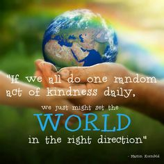 One act of kindness each day
