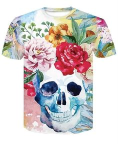 Tops & Tees Kind-Hearted Gas Masks Printing Man Summer T-shirt Casual Short Sleeves Man Top Tee Bright In Colour