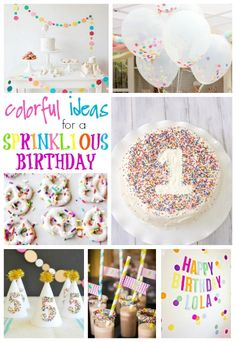 Sprinkle Birthday Party Ideas  #birthdayparty  #spirnkle