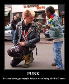 Don't judge!  (The valedictorian at my high school was a skater punk who rocked a blue mohawk) This is perfect. <3