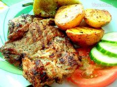 Grilovaná marinovaná krkovička (fotorecept) - Recept Meatloaf, Pesto, Pork, Red Peppers, Kale Stir Fry, Meat Loaf, Pigs