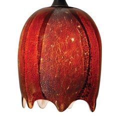 Nora Lighting - NRS80-493RB - Water Fall Shade - Red Burnt