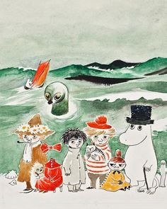 Tales from Moomin valley Illustration By Tove Jansson Tove Jansson, Totoro, Les Moomins, Art Postal, Envelope Art, Inspiration Art, All Nature, Children's Book Illustration, Mail Art
