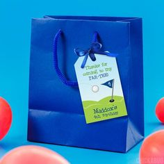Party favor tags are a customer favorite. They're a must-have for every party! You can... Golf Party, Party Favor Tags, Tag Design, 4th Birthday, Make Your Own, Favors, Messages, Presents, 4th Anniversary