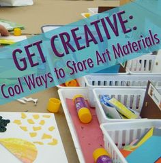 Tips for keeping art supplies organized and ready for your child's next project.