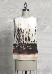 Trestia - Sleeveless Top by Marian Lupu High Low, Print Patterns, Tie Dye, Dress Up, Detail, Prints, Closure, Zipper, Blazer