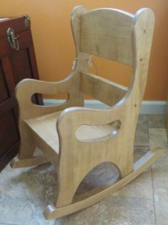 OAK ROCKING CHAIR Solid Wood Amish Handmade Quality Children Play Furniture Made in USA #RockingChair