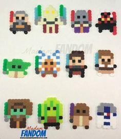 CLONE WARS, Star Wars, Party Favors, Set of 12 perler beads // Available from MadamFANDOM on etsy. ***original MadamFANDOM designs. Do not copy!***