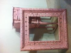2 pieces I just did! Shabby chic jewelry armoire and a vintage shabby chic frame. PRECIOUS !