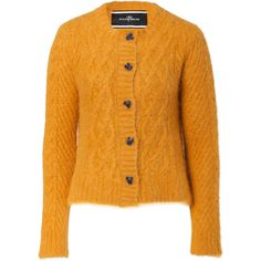 BY MALENE BIRGER Deep Honey Cable Knit Cardigan ($217) found on Polyvore