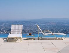 Oh my, I need this Walter Lamb Chaise...and that view!