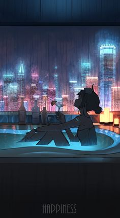 Anime Backgrounds Wallpapers, Anime Scenery Wallpaper, Animes Wallpapers, Cute Wallpapers, Cyberpunk Aesthetic, Cyberpunk Art, Aesthetic Art, Aesthetic Anime, Japon Illustration