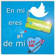 En mi twitter eres trendingtopic de mi corazón - Piropos de amor Twitter, Movie Posters, Ideas, Quotes Love, Love Photos, Imagenes De Amor, Film Poster, Thoughts, Billboard