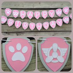 Paw Patrol Skye themed birthday banner. by 2inspiredcrafters