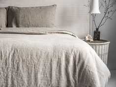 $175 duvet + 2 pillow cases (queen) BEST SPRING SEASONAL PRICES of genuine premium European Super-Soft Stonewashed Natural Organic linen DIRECTLY from historical flax cultivation region!