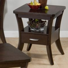 Jofran Joes Espresso End Table - Add a fresh new flavor to your living space…