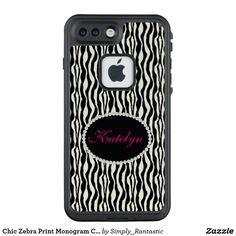 Chic Zebra Print Monogram Case