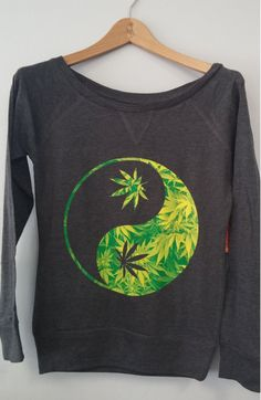 Yin Yang Weed Shirt, Need this for me and my best friend. Stoner Style, Stoner Girl, Stoner Room, Puff And Pass, Blazers, Down Coat, Warm Coat, Yin Yang, Swagg