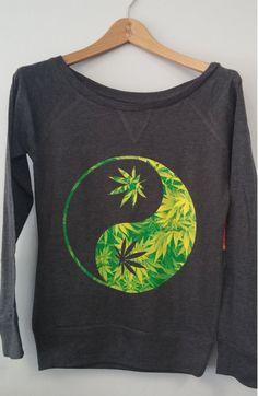 Long Sleeve Shirt - Yin Yang Weed #Apparel #Fashion www.purpworld.com