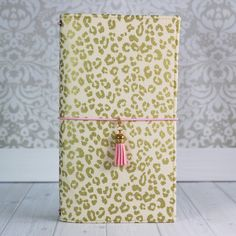 Fabric Traveler's Notebook in Gold Cheetah