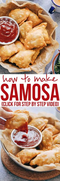 This is definitely the best Indian punjabi samosa you'll every make at home! I'm arming you with step by step directions and a recipe video for you to follow. So you can learn how to make the samosa dough, the vegetable aloo (potato) filling and how to easily wrap them. Vegetarian, Vegan and flaky!