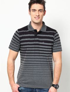 Buy Proline Grey Men's Polo T Shirts @ Rs.749. Fashioned using polycotton, this can be easily worn when heading out for a crazy day ahead with friends. Team pull-up linen trousers and leather flip-flops with this comfortable T-shirt as you head out for a wild outing.