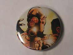 "Back To School Sale// Comic Book 1.5"" Button// Deadshot, $0.80"