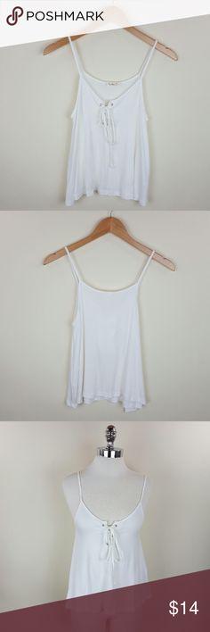 Spotted while shopping on Poshmark: Tie front spaghetti strap tank! #poshmark #fashion #shopping #style #Tops